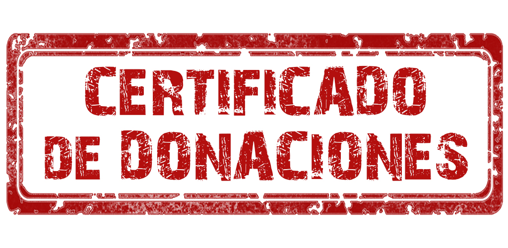 Certificado de donaciones año 2018